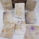 Ecoprint kaart: magie uit de natuur op handgeschept papier